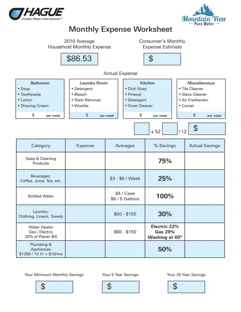 monthly-expense-worksheet-water-treatment